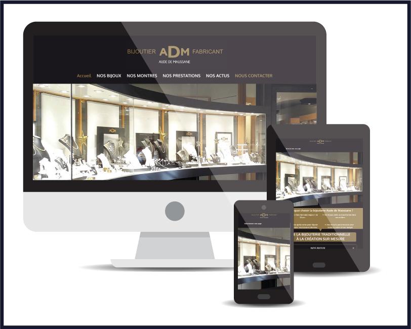 Site internet Bijouterie Aude de Maussane